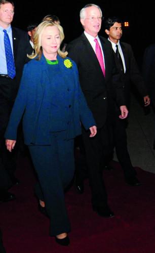 Hilari Klinton i Kameron Manter 24.9.2021.