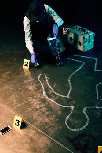 Scena zločina, ubistvo, istraga, dokazi