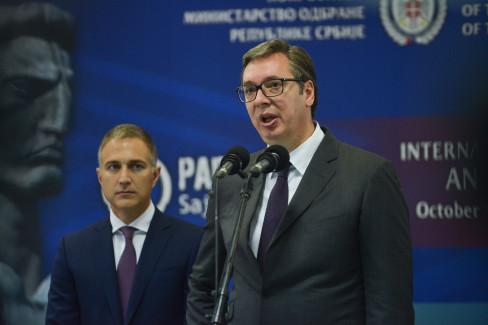 Aleksandar Vučić i Nebojša Stefanović 12.10.2021.